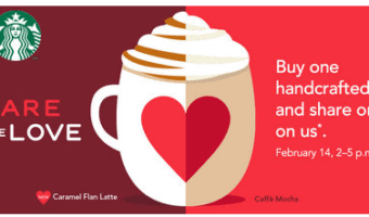 BOGO Starbucks on Valentines