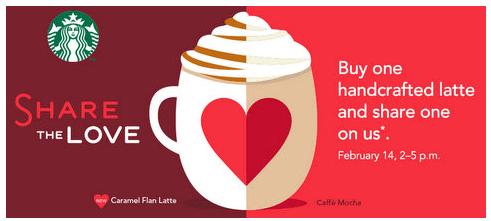 BOGO Starbucks on Valentines