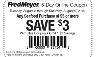 Fred Meyer – HOT $3/$5 Seafood Printable