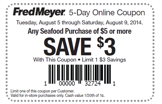 Fred Meyer – HOT $3/$5 Seafood Printable