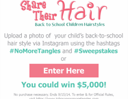 Johnson & Johnson – Share Their Hair Sweepstakes