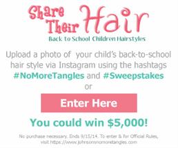 Johnson & Johnson – Share Their Hair Sweepstakes