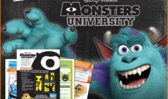 Monsters University Halloween Activties Printables
