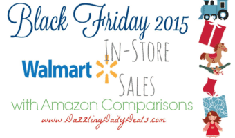 Walmart Black Friday Match-ups With Amazon Comparable