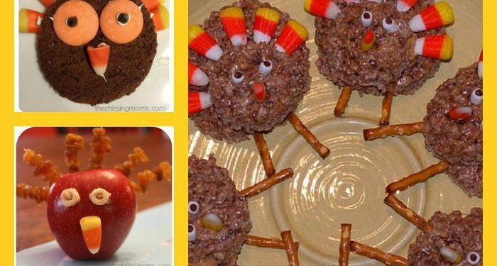 Thanksgiving Turkey Treats For Kids