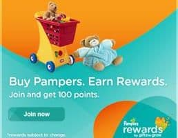 Pampers Rewards! Join Today To Get 100 Bonus Points For Toys And Prizes!