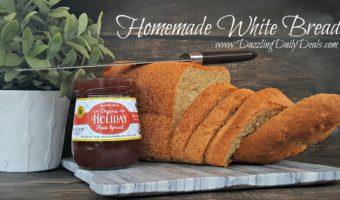 Fat Free White Bread Recipe #Homemade