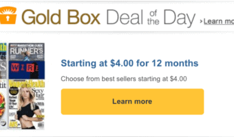 HOT Deal On Amazon – Full Year Of Your Favorite Magazine Starting At $4.00 – #Amazon