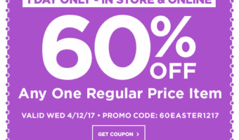 Micheals 60% Off One Regular Prices Item – **HOT** ONE DAY ONLY 4/12