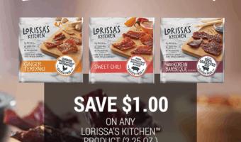 Save $1.00 off any Lorissa's Kitchen product at Kroger #PrepFreeProtein
