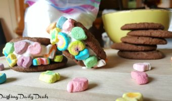 Lucky Charms Marshmallow Ice Cream Sandwiches #LuckyCharms #AD