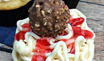 Spaghetti and Meatball Cupcakes
