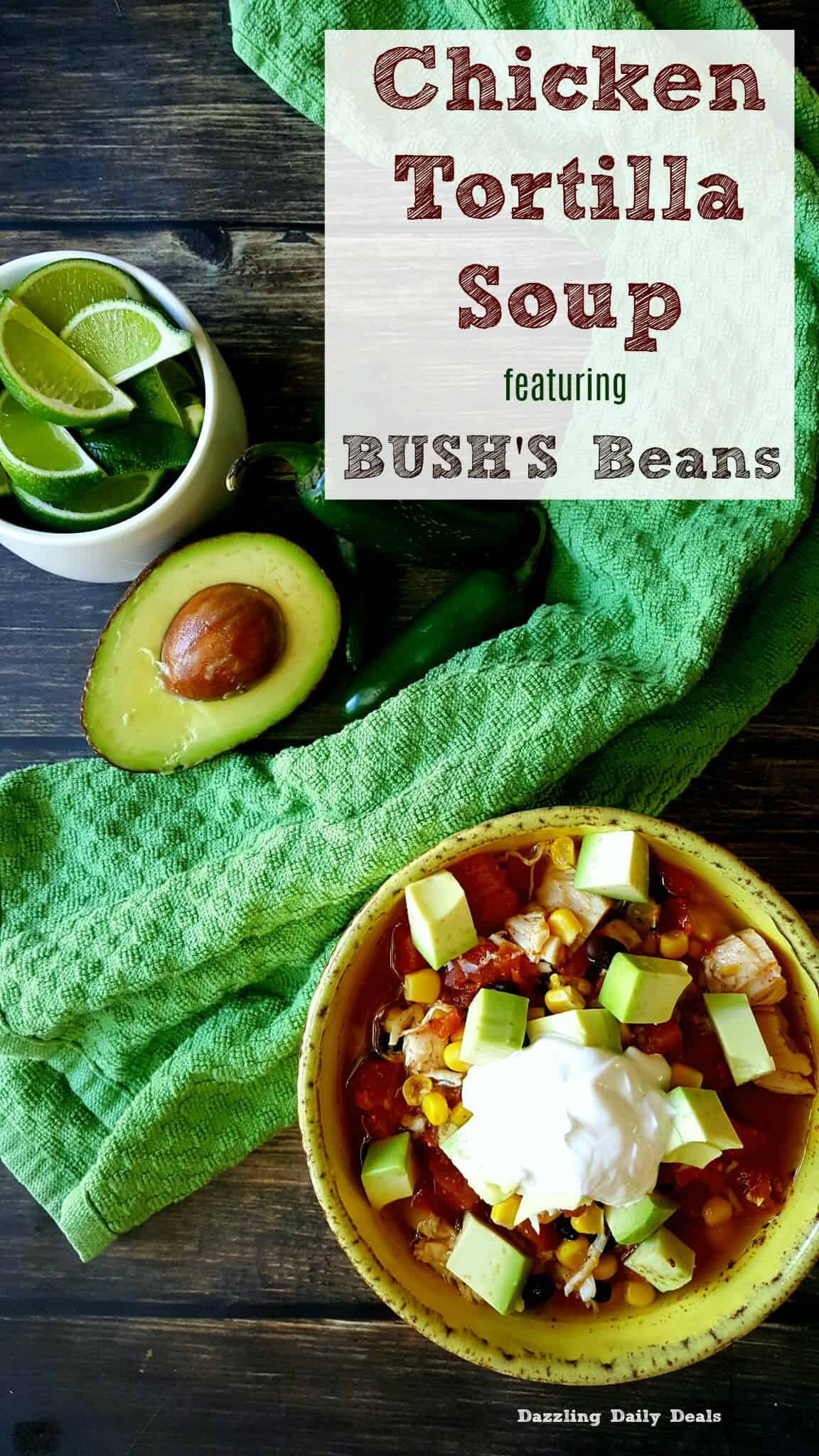 Easy chicken tortilla soup bushsbeansfallflavors ad dazzling disclosure i was hired by bushs beans to share with you my favorite recipe using their product all thoughts and opinions are my very own forumfinder Gallery