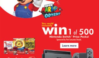 Buy Post Cereal At Walmart And You Could WIN 1 of 500 Nintendo Switch Prize Packs #AD #PrizesWithPost #CerealAnytime