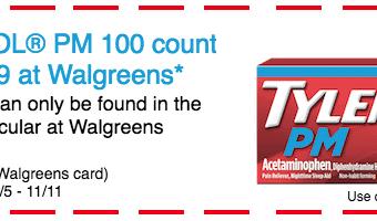 Take Advantage Of Savings on TYLENOL® PM At Walgreens 11/5-11/11 #ForBetterTomorrows #AD