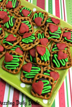 Easy Grinch Pretzels #Recipe