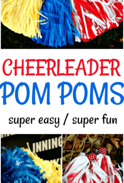 DIY Cheerleader Pom Poms – Super Easy And Fun