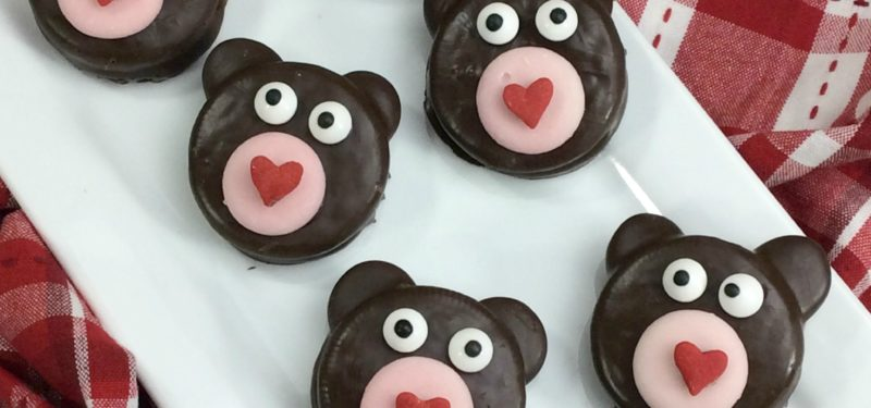 Sweetheart Oreo Bear Cookies #recipe