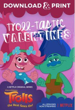 Valentines Day Trolls Printables